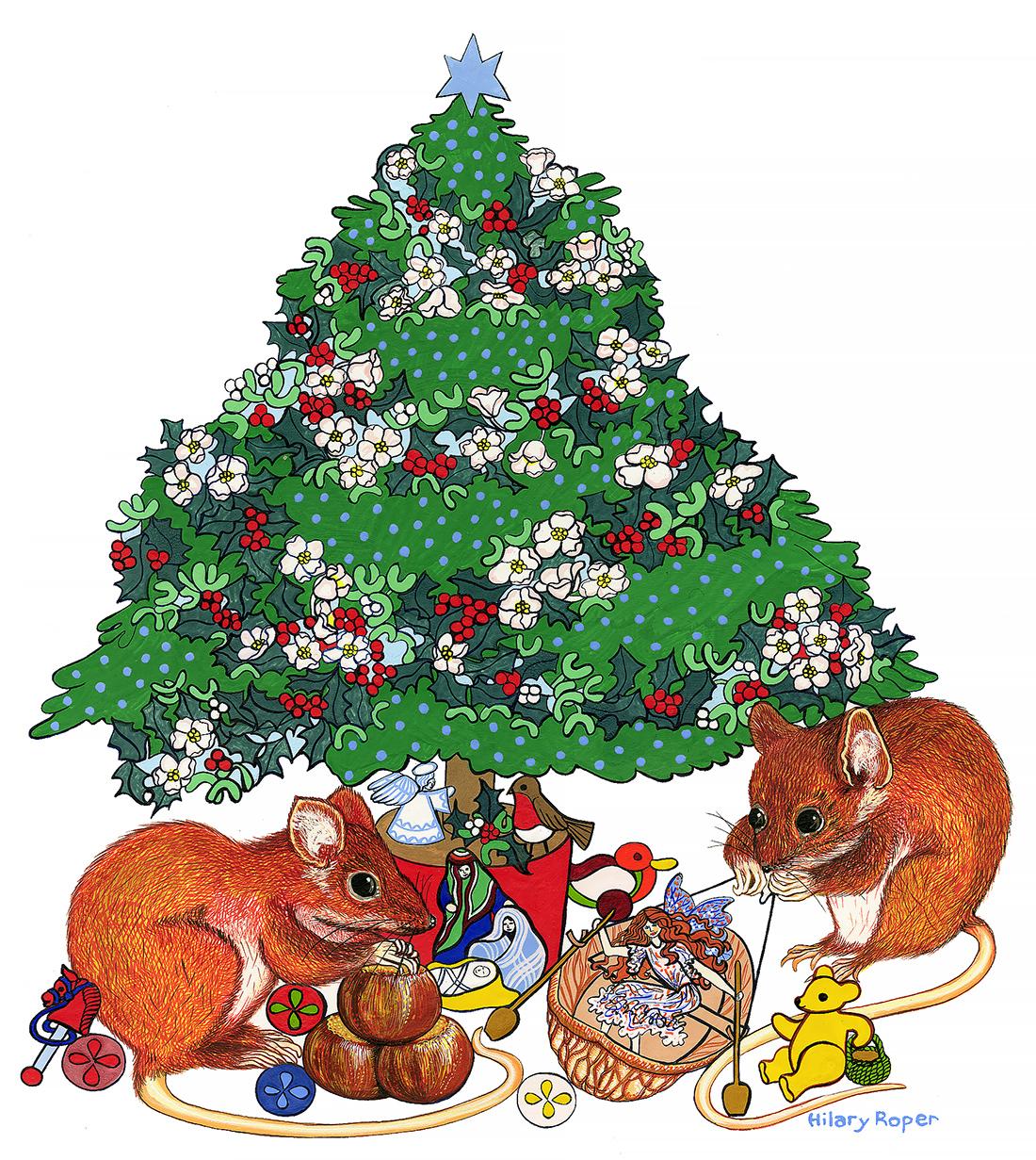 Mice with Xmas Tree